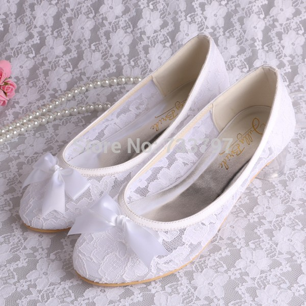 Wedopus Small Size 34 White Lace Ballet