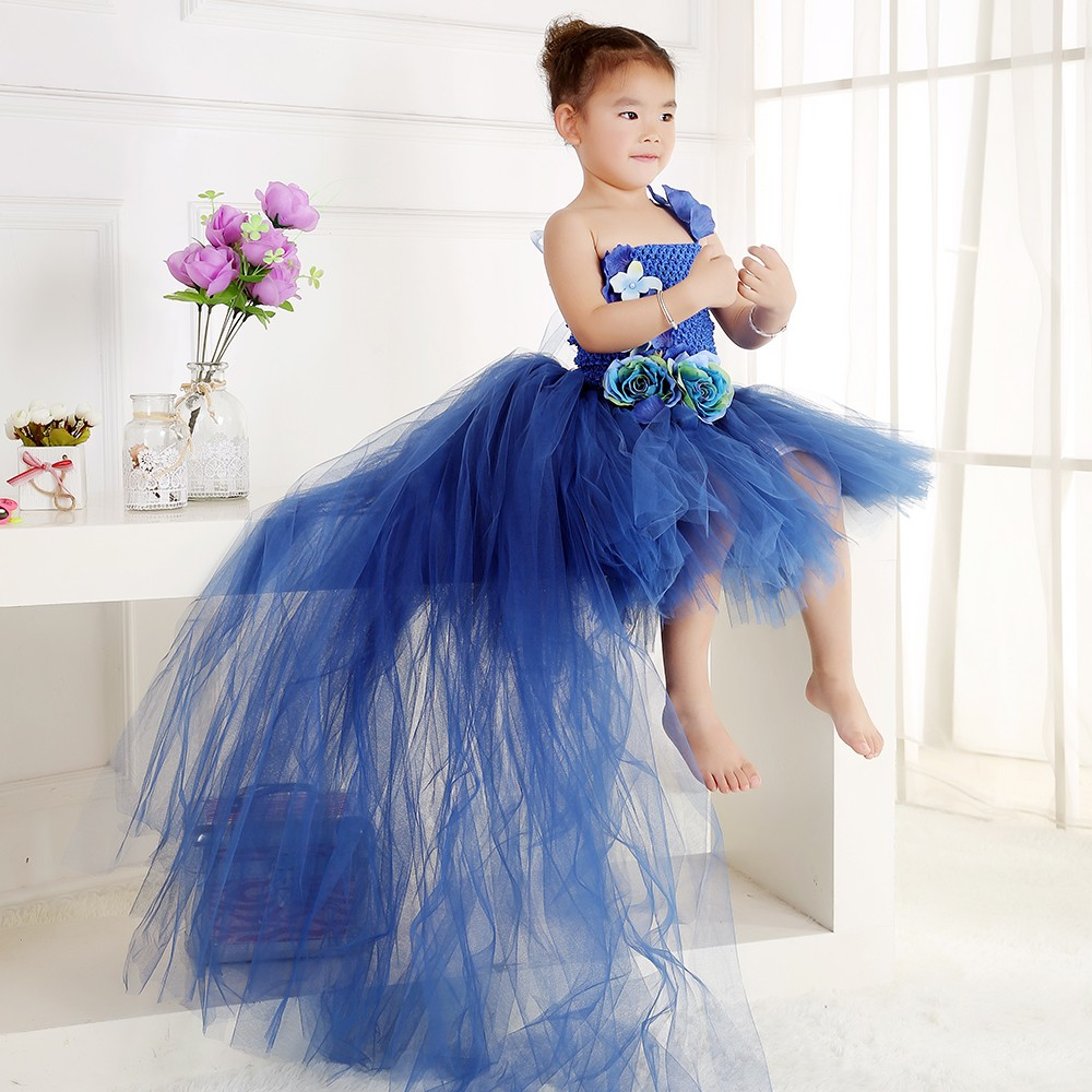 09844ac7e79 Mermaid Flower Girls Dresses for Wedding Gowns Black Girl Birthday Party  Dress Kids Prom High Quality