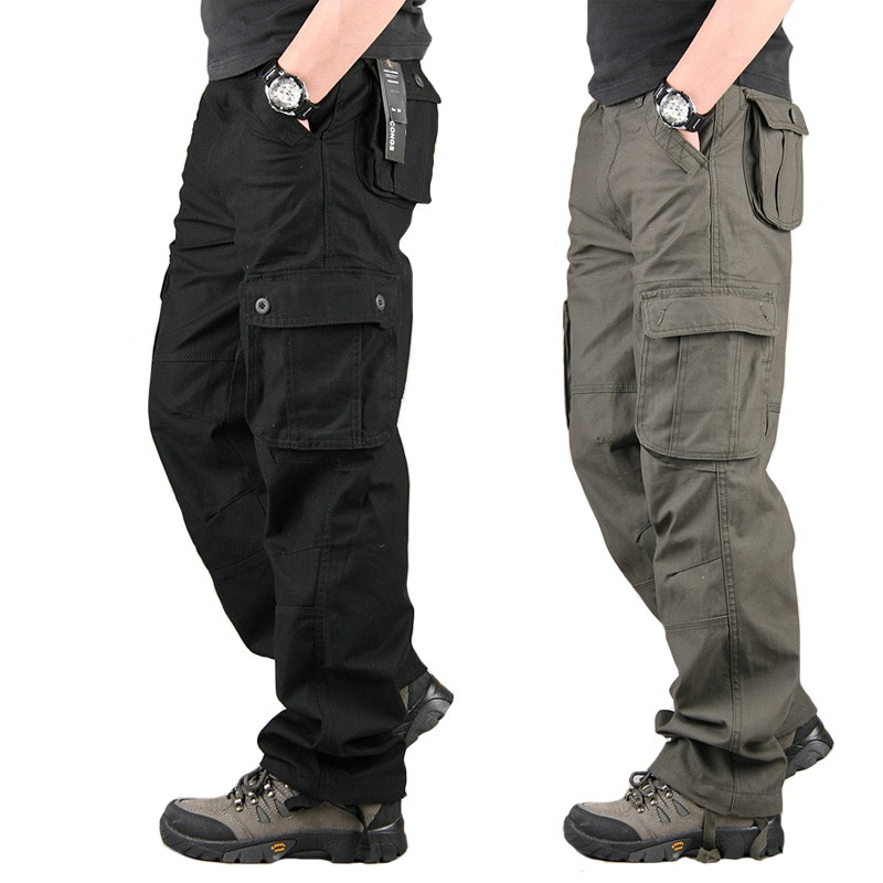 Militar Tactical Cargo Pants Mens Army Combat Camouflage Overalls