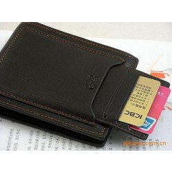 Free shipping+50pcs/lot+2016 fashion Mens Wallet+ Men Purse + Men rfid card leather wallet+ Genuine leather+ wholesale WMB4