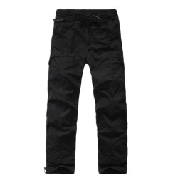 2017 Winter Double Layer Men's Cargo Pants Warm warm Pants Baggy Pants Cotton Trousers For Men army green casual pants
