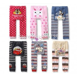 Lovely Baby clothing cartoon Kids Baby Boys Girls leggings PP pants warm Cotton Trousers 20pcs/lot free shipping