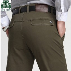 AFS JEEP Spring/Winter 2015 New Design Men's Cotton Pants,High Good Quality Male Brand mid waist Casual Trousers,Wholesale pant