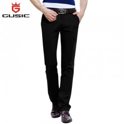 2016 Brand Gusic Pants Men Business Trousers Quality Men Casual Pants Summer Big Size Pants (28-44) Mens Stretch Slim Fit 35186