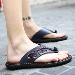Noopula Summer Men slippers Gladiator Shose Men Roman China Shoes Brand slippers Designer Platform Luxury Genuine Leather Flat