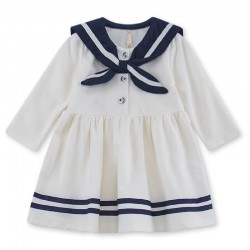 2017 Preppy style infant girl dress baby girls clothes cotton baby girl christening gowns baby dress white 0-2 yrs navy white