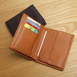 LAN leather men's hight quality wallet first layer cow leather wallet fashion long wallet