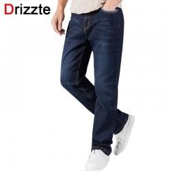 Drizzte Brand Mens Jeans Relax Loose Causal Straight Stretch Denim Jeans Size 30 32 34 36 38 40 42 44 for Autumn Jeans