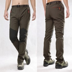 Men Charge Pants Style Grasp Sweat Trousers Warm Windproof Thick Soft Shell Pants Mountaineering  Pants Winter