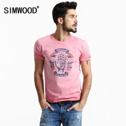 2016 New Arrival Simwood Brand Men T shirt Slim Fit Short-sleeved O-neck Print Letter T shirt Plus  Size Free Shipping TD1048