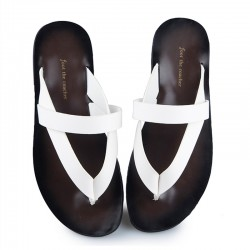 US6-9 Mens Summer Leather Cross-strap  Top-Thongs Outdoor Slippers Casual T-strap Beach Flip Flops Shoes