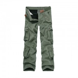 Cargo Pants Thicken Winter Double Layer Warm Cargo Pants Camouflage Cotton Pants Men Straight Casual Trousers