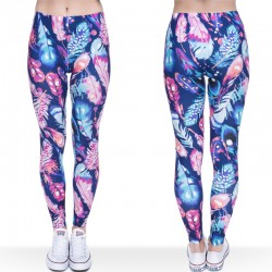 Women Leggings Gilrs Beauitiful Funny Colorful Feather printing Leggings Pant