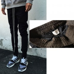 Chinos Joggers Mens European Urban Clothing Black Kanye West Justin Bieber Harem Dress Zipper Track Pants Fear Of God Have Logo