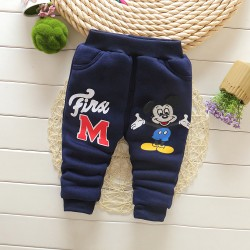 Boys Thick winter trousers plus velvet warm baby boy Trousers boy pants cartoon double baby clothing pants