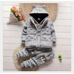 NYSRFZ2017 Children's Wear Winter Boy's Suit R New Style Big Boy Sports Outfit Boy Add Thick Clothes Children's Baseball Clothes