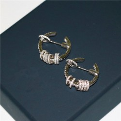Wholesale New Arrival Fashion Women 925 Sterling Silver Micro Inlay Zircon, The Circle Circle Loops Earrings Jewelry