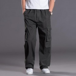 6XL Big Size Men's Cargo Pants Casual Men Winter Thick Multi Pocket Military Overall Men High Quality Long Trousers Plus Size