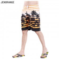 2017 JENORANGE new fashion Europe men's Polyester shorts summer style print casual  shorts beach shorts of men plus size M-XXXL