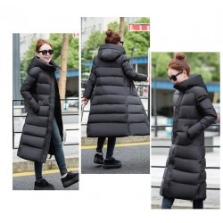 Fashion women's clothing Winter clothing High quality high-end fashion women's Down jacket female knee-length dress warm coat