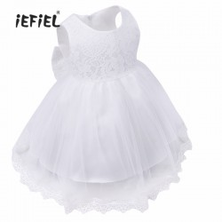 2017 Newesr White Girl Christening Gown Infant Baby Dress For Little Girls Daily Wear Wedding Birthday Party Baptism Dress
