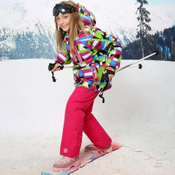 For -30 Ski Set Degree Warm Coat Sporty Waterproof Windproof Sik Jaket Giirls Kids Clothes Sets Children Outerwear For 3-16T