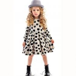 Winter Autumn Spring Girl Dress Animal Print Kids Clothes 2017 Fashion Long Sleeve Cotton Girls Clothes Casual Children Clothing