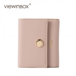 Viewinbox Women Mini Wallet Purse Lady Card Holder Women Short Wallet High Quality Leather Wallet Women Luxury Brand Purse