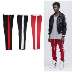 2017 New korean hip hop 90's Fashion jogger urban clothing red bottoms kanye  jogger justin bieber side zipper pants