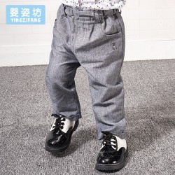 2017 New Spring Boys Baby Solid  Cotton Elastic Waist Pants
