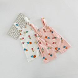 new 2017 Wholesale hot summer fashion ins Baby cotton Printed pineapple straps trousers 0-3years
