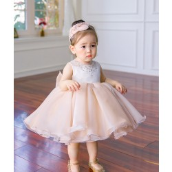 2017 New Sequin Baby Girl Dress 6-24M 1 Years Baby Girls Birthday Dresses Vestido Infant baptism Christening dress
