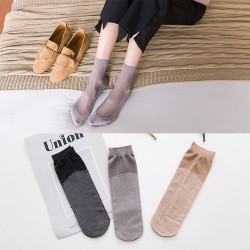 100pair Paragraph female spring summer Cotton velvet and bottom anti-slip foot massage socks Absorb sweat