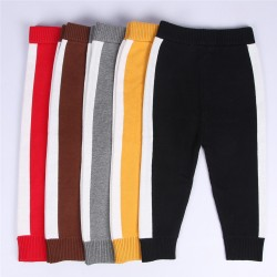 Boys girls casual pants, Spring Lovely Cotton Infant Pants for girls, roupas infantis menina, Knitted pants for children