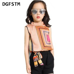 Girls Clothing Sets Chiffon Vests & Shorts 2 Pcs Summer Cartoon T-Shirts For Girls Kids Outfits3 4 5 6 7 9 11 12 Years