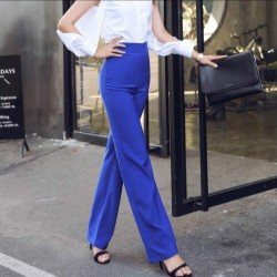 2017 new spring and summer Fashion casual Slim high waist blue tall female women girls pants trousers clothes 79071