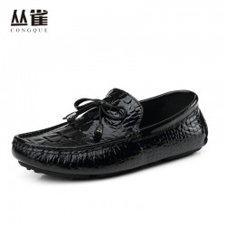 Hot sale Slip-on city driving loafers man foldable ballet shoes summer light flats male hombre soft Genuine leather upper sizes