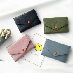 LYDIAN 2017 Hot Sale Short Envelope Clutch Wallet Cash Bag European Style Minimalist Slim Coin Purse Cowhide Wallets Card Holder