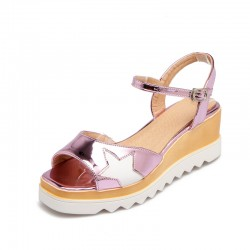 Patent Leather Wedges Sandals Women Fashion Nice Women Sandals Platform
