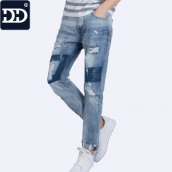 2017 New Spring  Summer Break The Hole Nine Pants  Men's Wear  Jeans Casual Thin Men's Pants For Summer