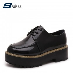 Flats Women Shoes High Quality Lace Up Leather Casual Shoes Women Working Shoes AA40530