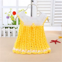 2017 nice & beautiful baby girl's knitted vest dress for newborn infants kids spring & autumn clothes knitting dresses