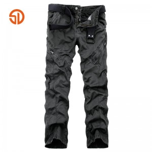 Brand Clothing High Quality 100% Cotton Mens Camouflage Cargo Pants Male Tactical Baggy Pants Military Pockets Long Trousers