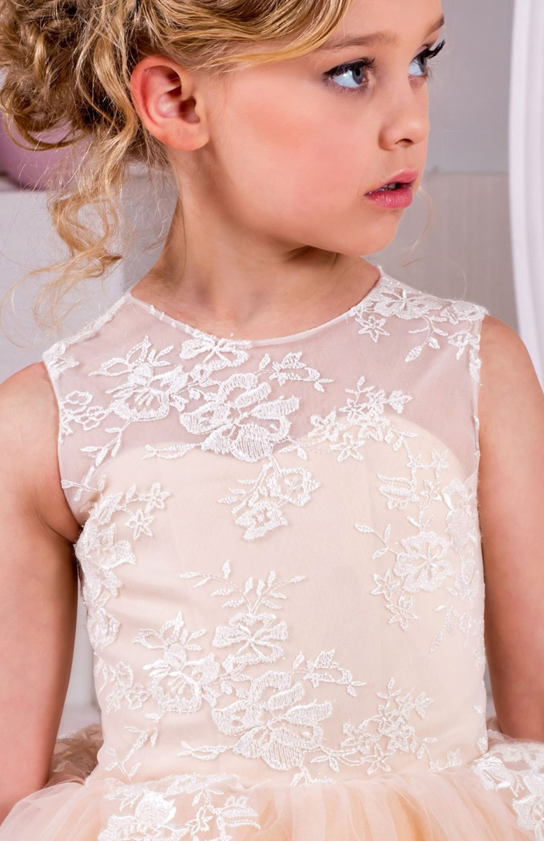 New Puffy Flower Girl Dresses For Wedding Ball Gown Girls Pageant Gown Lace Kids Size 4 6 8 10 12 14 Custom Dresses Girl Toys Kids Baby Clothing,Macy Dresses For Wedding